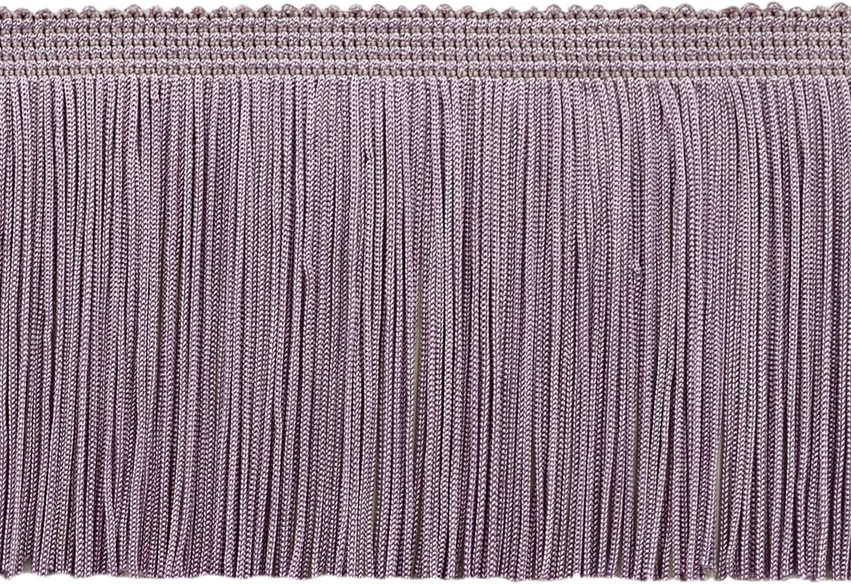 - D7 Light Purple D/ÉCOPRO 11 Yard Value Pack of 4 Inch Long Chainette Fringe Trim 33 Feet // 10M Style# CF04 Color: Lilac