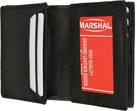 New Tommy Hilfiger Black Leather Slim Billfold Wallet Credit Card ID For Men NIB