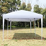 NSDirect 10 x 10 ft Outdoor Party Tent Easy Pop Up Canopy with Carrying Case/Bag Gazebo Pavilion Wedding Party Patio Instant Portable Folding Shelter White