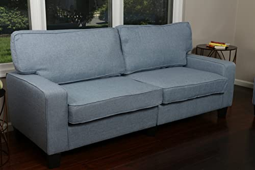 Home Life 3 Person Full Size Contemporary Pocket Coil Hardwood Sofa 282 78″ Wide