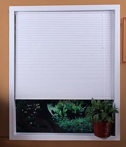 7679bce54d321 Amazon.com: Premium 2 inch faux wood blinds, Snow White, 59 x 73 ...