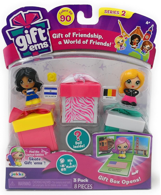 SAN SALVADOR /& BRUSSELS Jakks Gift Ems SERIES 2 Gift of Friendship a World of Friends 3 Pack