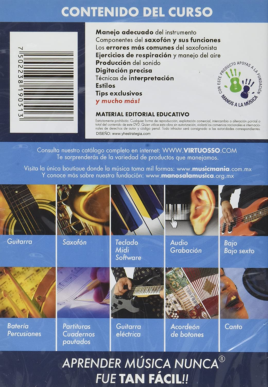 Amazon.com: Virtuosso Saxophone Method Vol.1 (Curso De Saxofón Vol.1) SPANISH ONLY: Musical Instruments