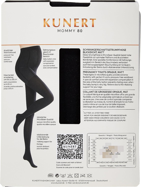 Black 0500 KUNERT Damen Schwangerschafts-Leggings Mommy 80 Schwarz 38//40