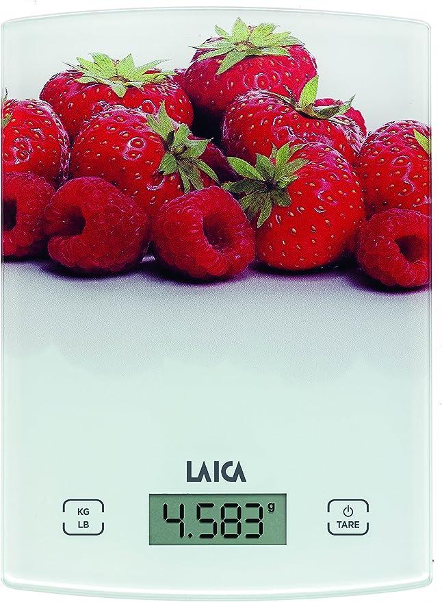 Laica KS1040W Bilancia da Cucina Elettronica Portata Max 5 Kg