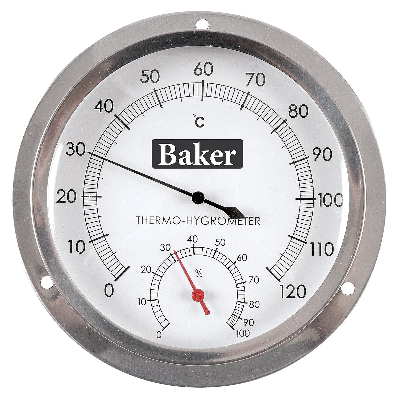 Baker Instruments B6020 Dial Thermo-Hygrometer, 0 to 120°C / 0-100% RH 0 to 120°C / 0-100% RH Reed DI-QBZQ-39UJ