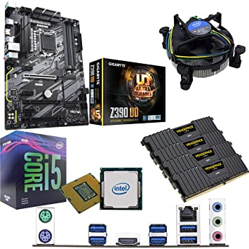 Components4All Intel Coffee Lake Core i5 9400F 2 9GHz (4 1GHz Turbo) CPU,  Gigabyte Z390 UD Motherboard & 16GB 3200MHz Corsair DDR4 RAM Pre-Built