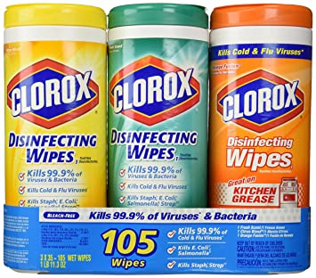 Amazon.com: Clorox Disinfecting Wipes Canisters, Value 3 pack and ...