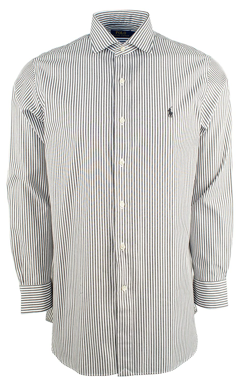 2a55ff72cda Polo Ralph Lauren Men s Classic Fit Striped Dress Shirt at Amazon Men s  Clothing store