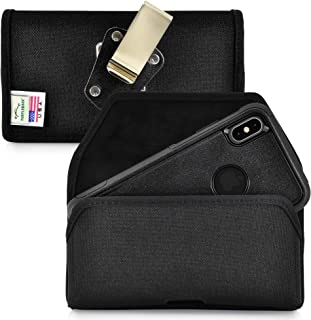 product image for Turtleback Belt Clip Case Designed for iPhone 11 Pro Max (2019) / XS Max (2018) Fits with OTTERBOX Commuter, Black Nylon Holster Pouch with Heavy Duty Rotating Belt Clip, Horizontal Made in USA