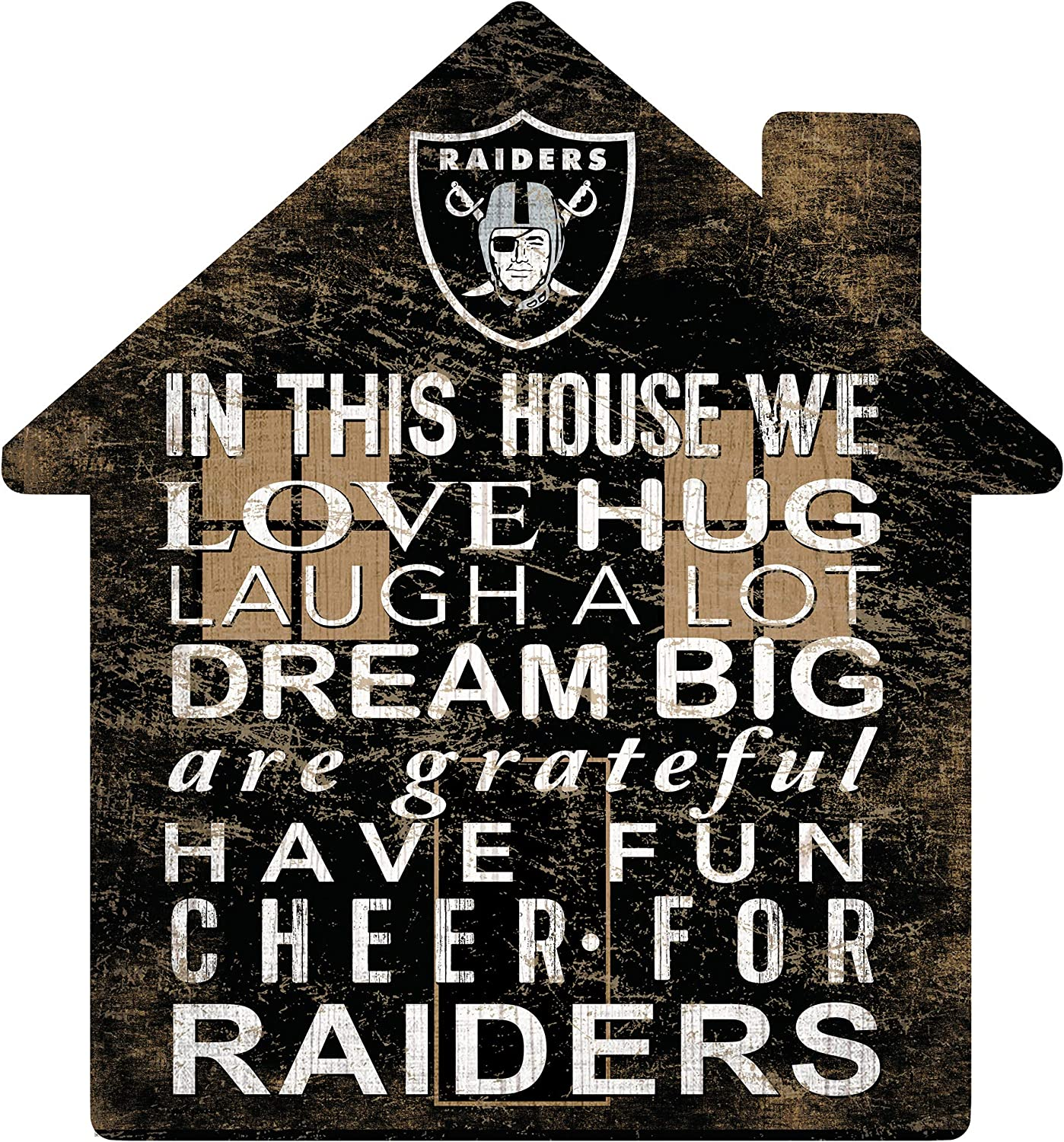 Fan Creations NFL Las Vegas Raiders Unisex Oakland Raiders House Sign, Team Color, 12 inch (N0880-OAK)