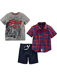 Simple Joys by Carter's baby-boys Toddler 3-Piece Playwear Set Shorts Sets