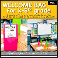 Back to School | Welcome Bags for Students Kinder-5th grade