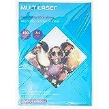 Papel Glossy Paper Multilaser A4 180G C/ 50 Folhas - Branco - PE031