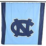 College Covers NCAA North Carolina Tar Heels Big Logo Shower Curtain Blue 72
