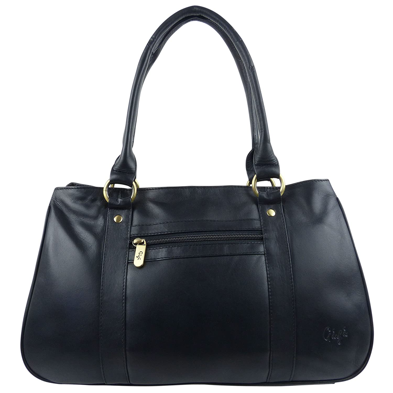 Ladies LEATHER Handbag by GiGi OTHELLO Collection Grab Bag Stylish