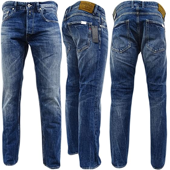 Replay Dark Blue Grover  Straight Fit With Distressed Finish - Ma972-50C-150 134f218654