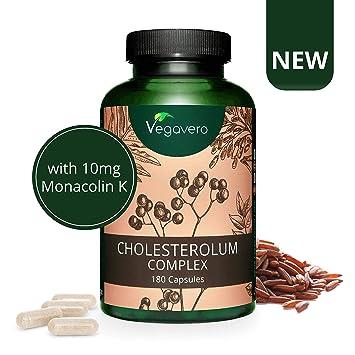 Suplemento Colesterol Vegavero® | 100% VEGETAL | Red Yeast Rice + Monacolina K + Fitoesteroles + Berberina + Espino Navarro + Alcachofa | 180 Cápsulas ...