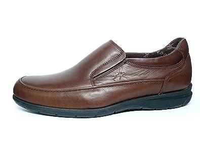 Zapatos hombre FLUCHOS - Tipo mocasín - Piel, disponible en Marrón y Negro - 8499 - 59: Amazon.es: Zapatos y complementos