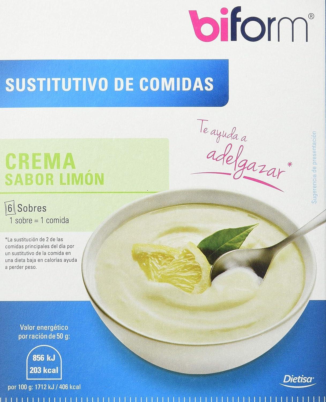 Biform Sustitutivo Crema Limón, Sutituye una Comida. 6 sobres x 50g
