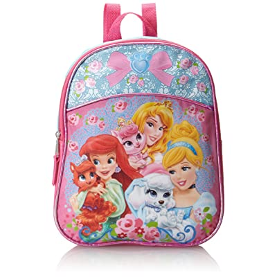 Disney Little Girls' Palace Pets Princess Mini Backpack, Blue/Pink, One Size