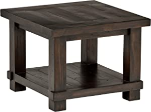 "Stone & Beam Ferndale Rustic Reclaimed Pine Side End Table, 24""W, Espresso"