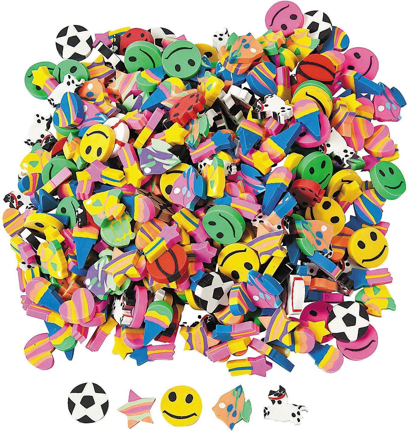 Mini Eraser Assortment (500PC) - Stationery - 500 Pieces
