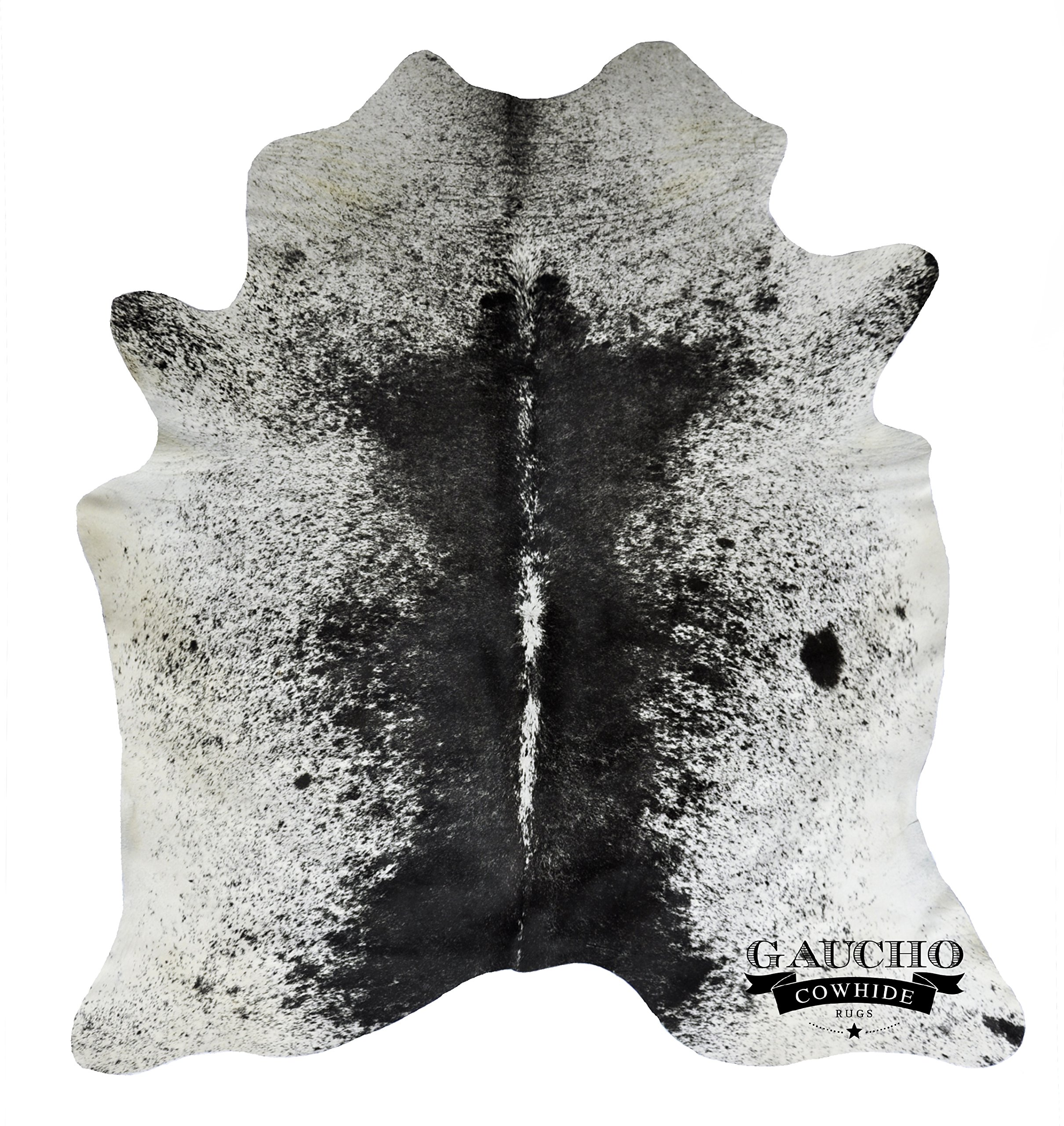 Snowie Black & White Cowhide