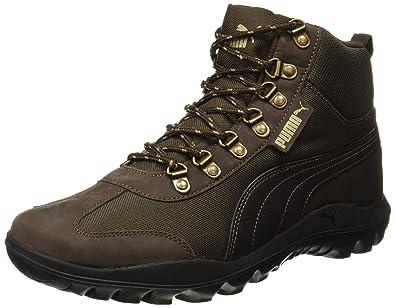 Puma Men s Tatau Fur Boot 2 IDP Black and Black Coffee Sneakers - 10 ... d8738297a