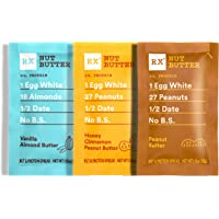 RX Nut Butter, 3 Flavor Variety Pack, 1.13oz, 10 Count, Keto Snack, Gluten Free