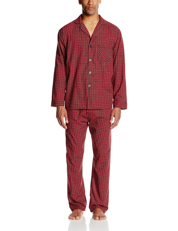 Escocés rojo Hanes – Pantalón de Plain-Weave Juego de Piñama