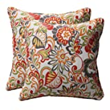 Pillow Perfect Decorative Modern Floral Square Toss