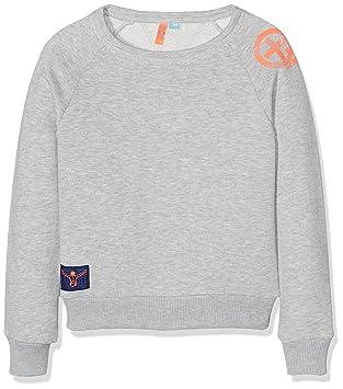 Chiemsee Mädchen Larissa Junior Sweatshirt, Light Grey Melange, 140
