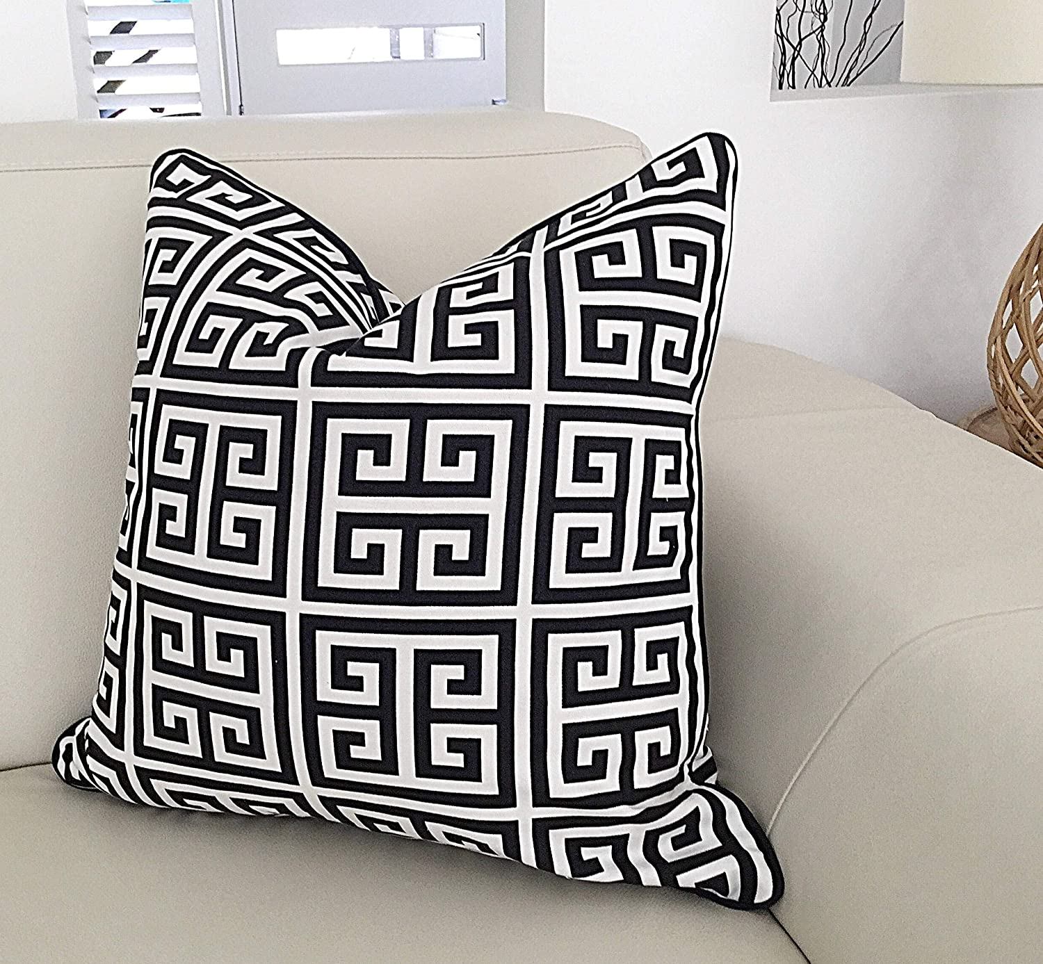 Pillow Covers Black and White Pillows