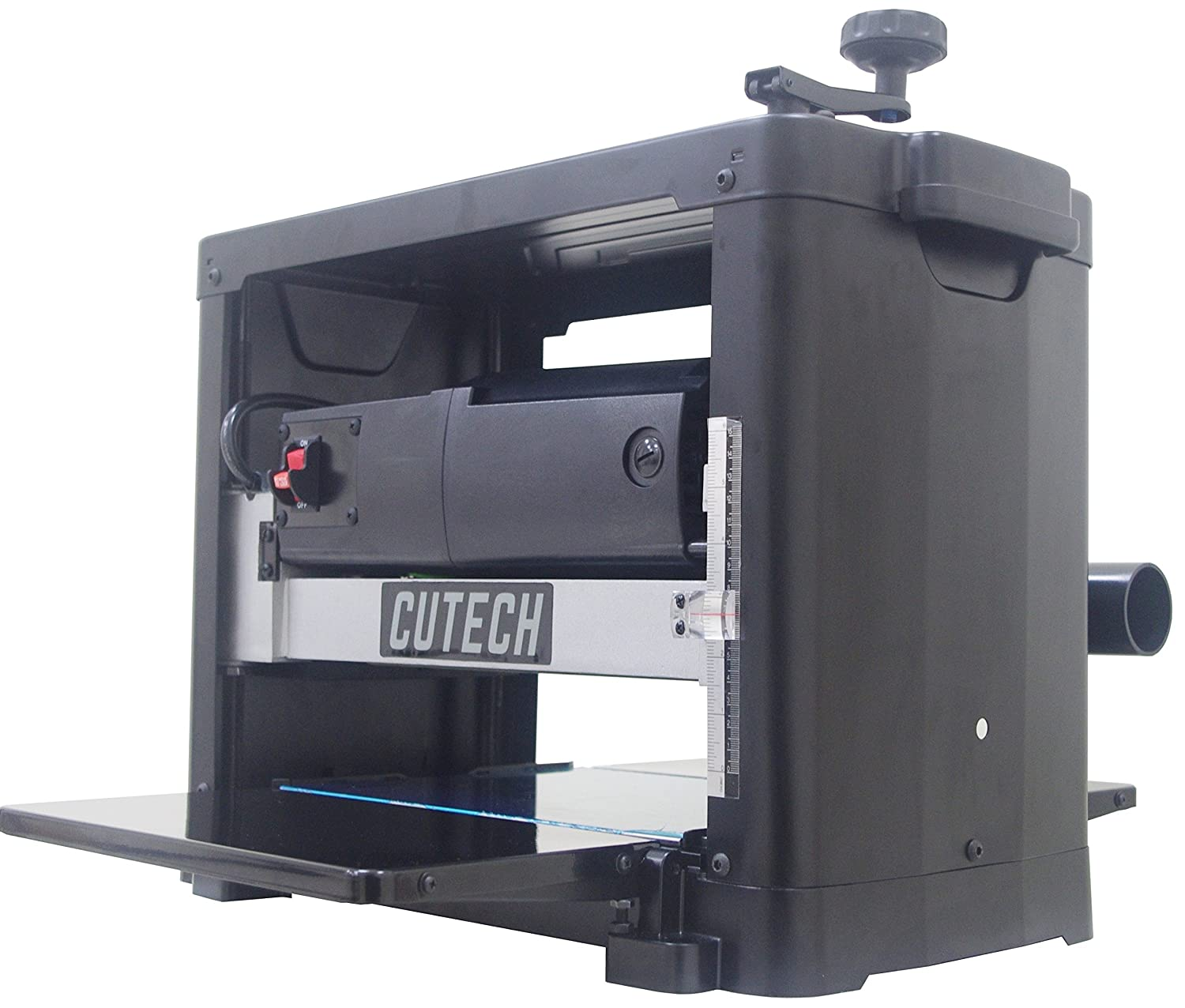 Cutech 40700H-CT 12 1 2 Spiral Cutterhead Planer with High Speed Steel Tips