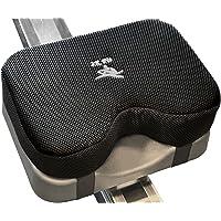 2K Fit - Cojín de asiento para máquina de remo (modelo 2) que se adapta perfectamente a Concept 2 con espuma viscoelástica más gruesa, funda lavable y correas, funcioa con bicicleta estática reclinable