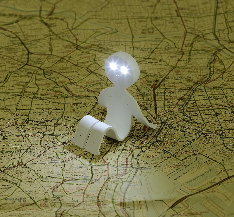 lightman bendable book light stand happy green