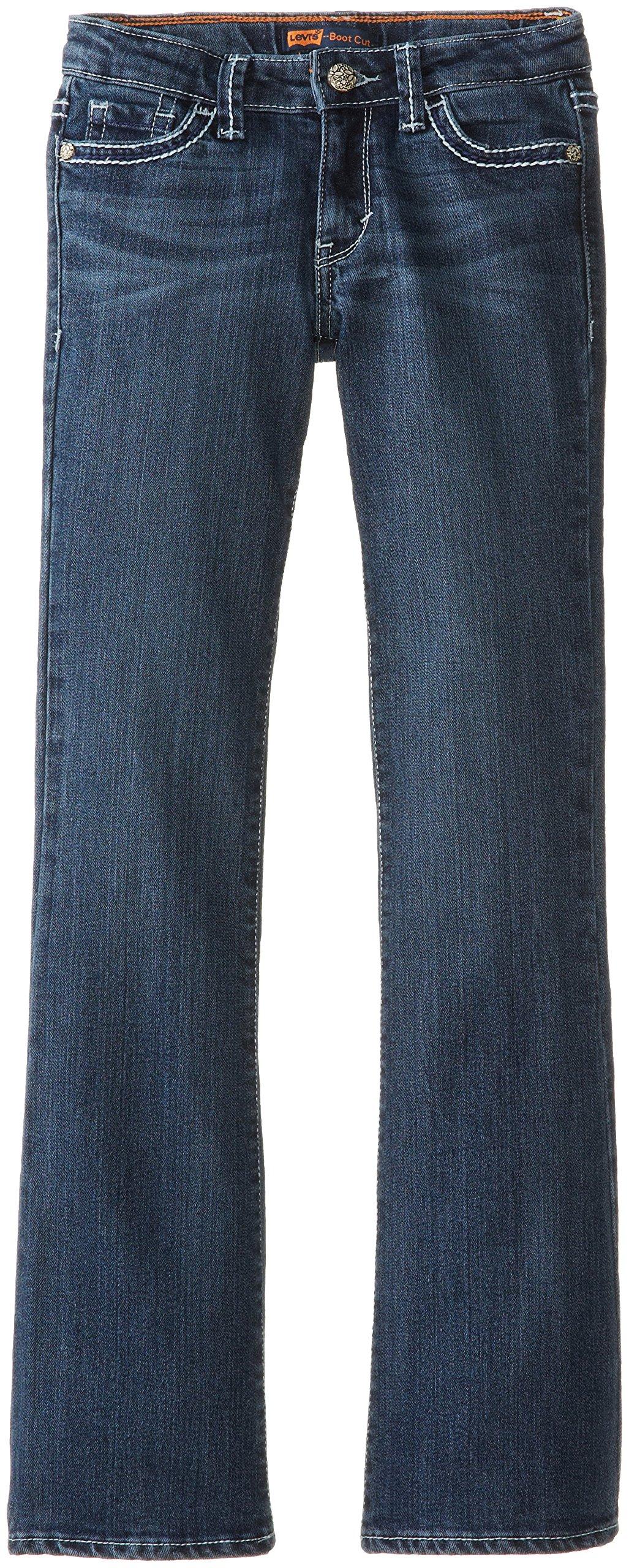 Levi's Girls 715 Bootcut Thick Stitch Jeans, Blue