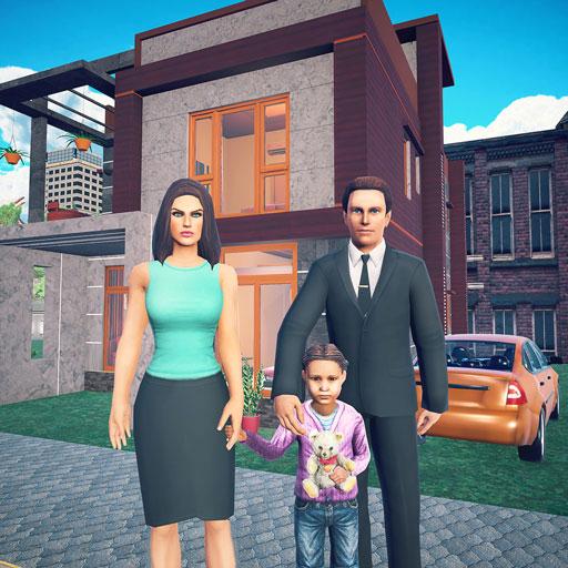 Virtual Happy Family Games: Dad simulator Home Sweet - Granny Super