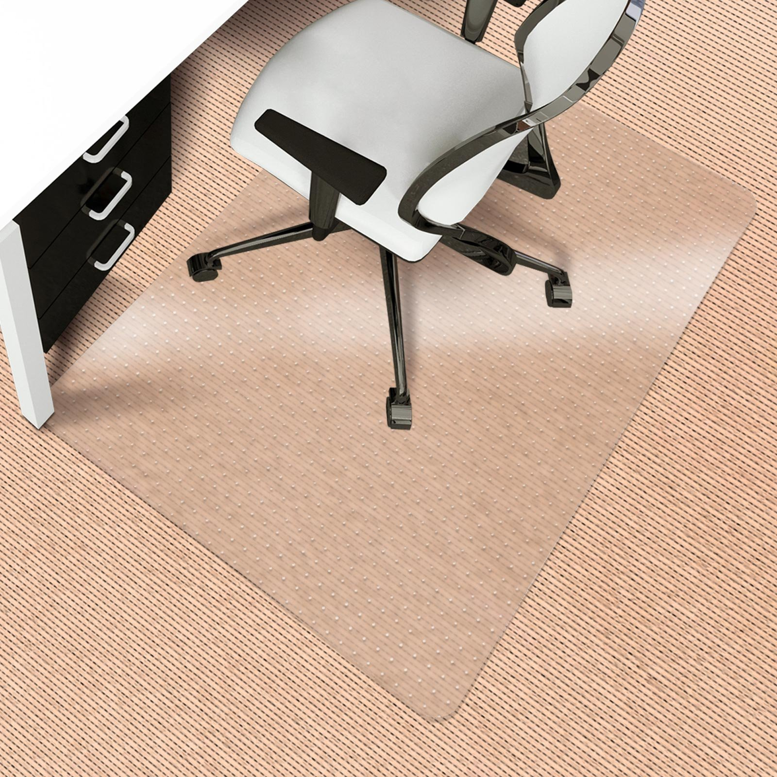 Office Chair Mat for Carpeted Floors | Desk Chair Mat for Carpet | Clear PVC Mat in Different Thicknesses and Sizes for Every Pile Type | Medium-Pile 36''x48'' by OfficeMarshal (Image #4)