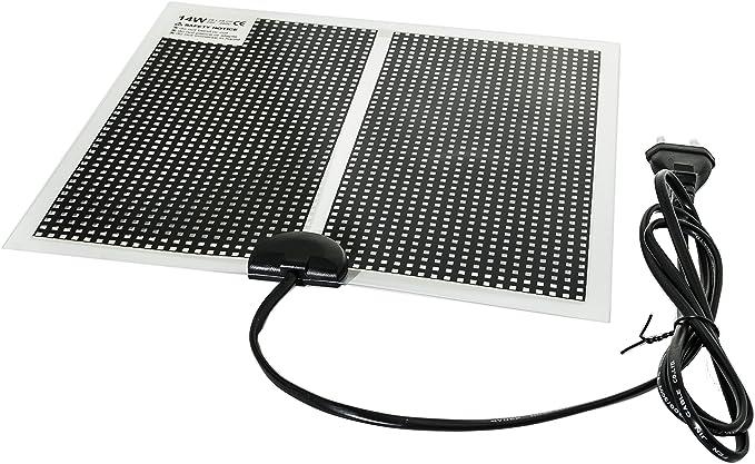 Alfombrilla calefactora, calefactor ultraplano para el terrario, con cable de 150cm con enchufe europeo para 230V: Amazon.es: Productos para mascotas