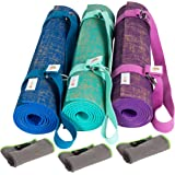 "Natural Jute / Eco PVC Premium Yoga Mat with Carry Strap by YogiMall, Free of Harmful Substances, Dual Sided, Extra Long 72"", Best for Bikram / Hot, Ashtanga, Vinyasa and Pilates - 1 Year Warranty!"