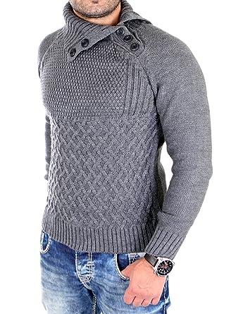 gut 100% Zufriedenheitsgarantie das beste Tazzio Strickpullover Herren Grobstick Winter-Pullover TZ ...
