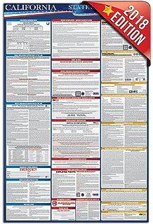 Amazon 2018 california labor law poster state federal 2018 california labor law poster state and federal compliant english sciox Images