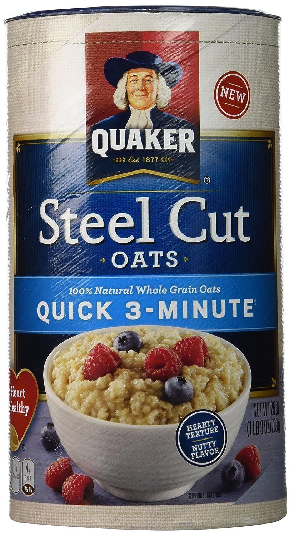 QUAKER Steel Cut Quick Oats, 25 oz