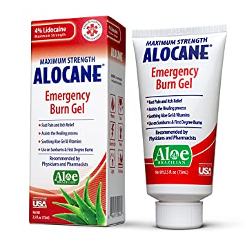 Alocane Emergency Burn Gel, 4% Lidocaine Maximum Strength Fast Pain and  Itch Relief for Minor