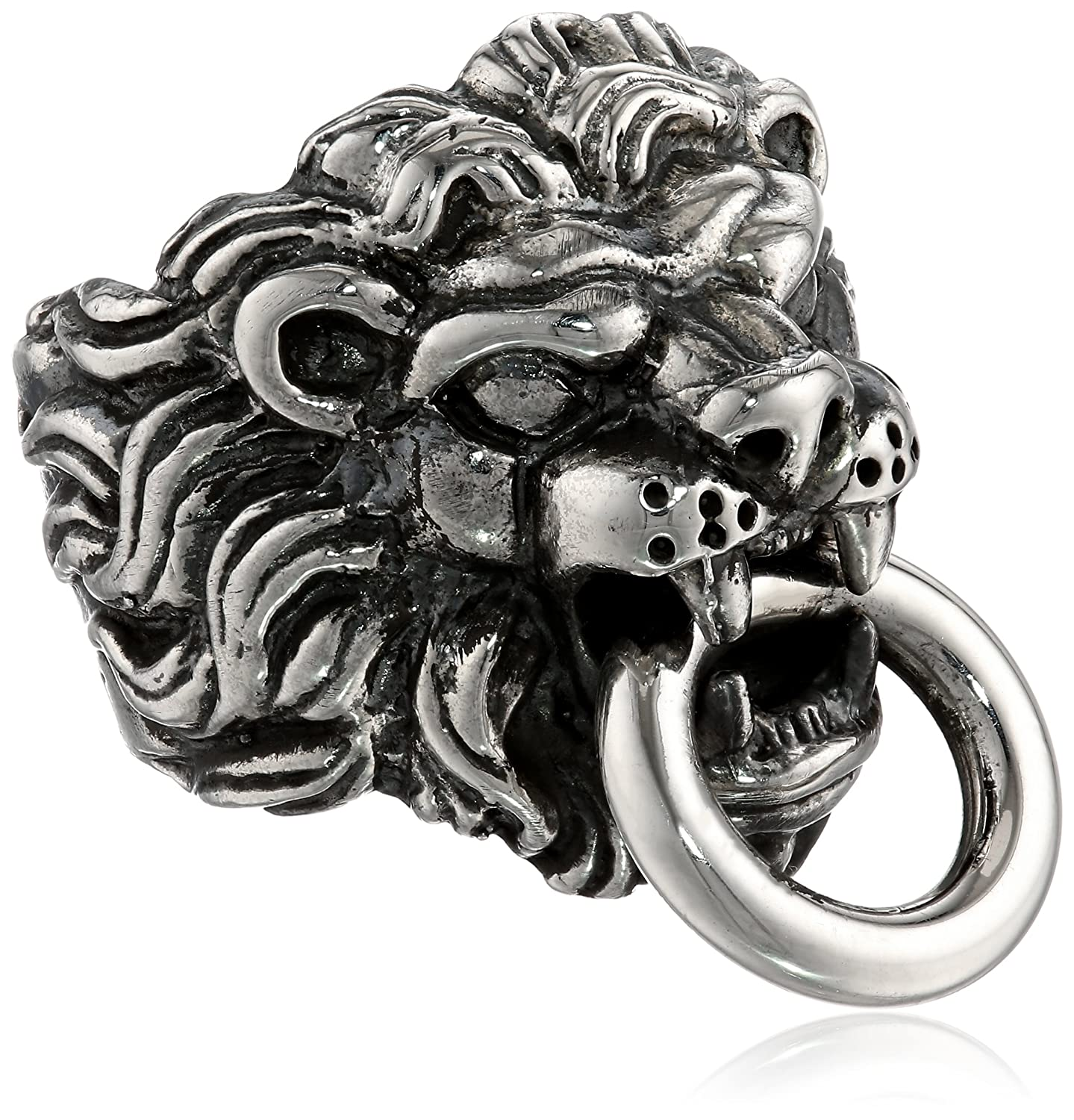 solid s large head ring mens rings lion gold men