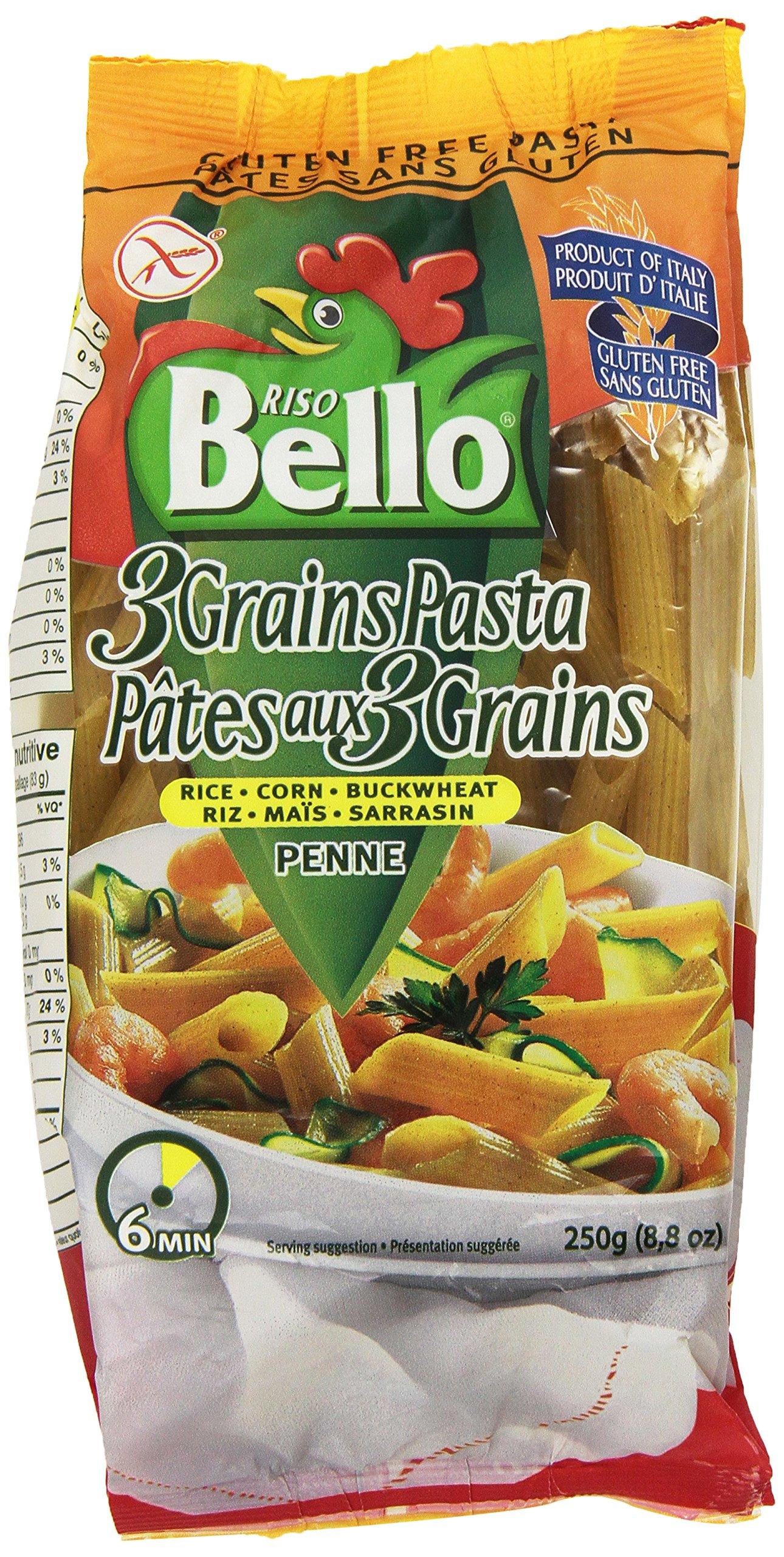 Riso Bello Gluten Free 3 Grain Penne Pasta From Riso Bello, 8.8-Ounce Packages (Pack of 6) by Riso Bello
