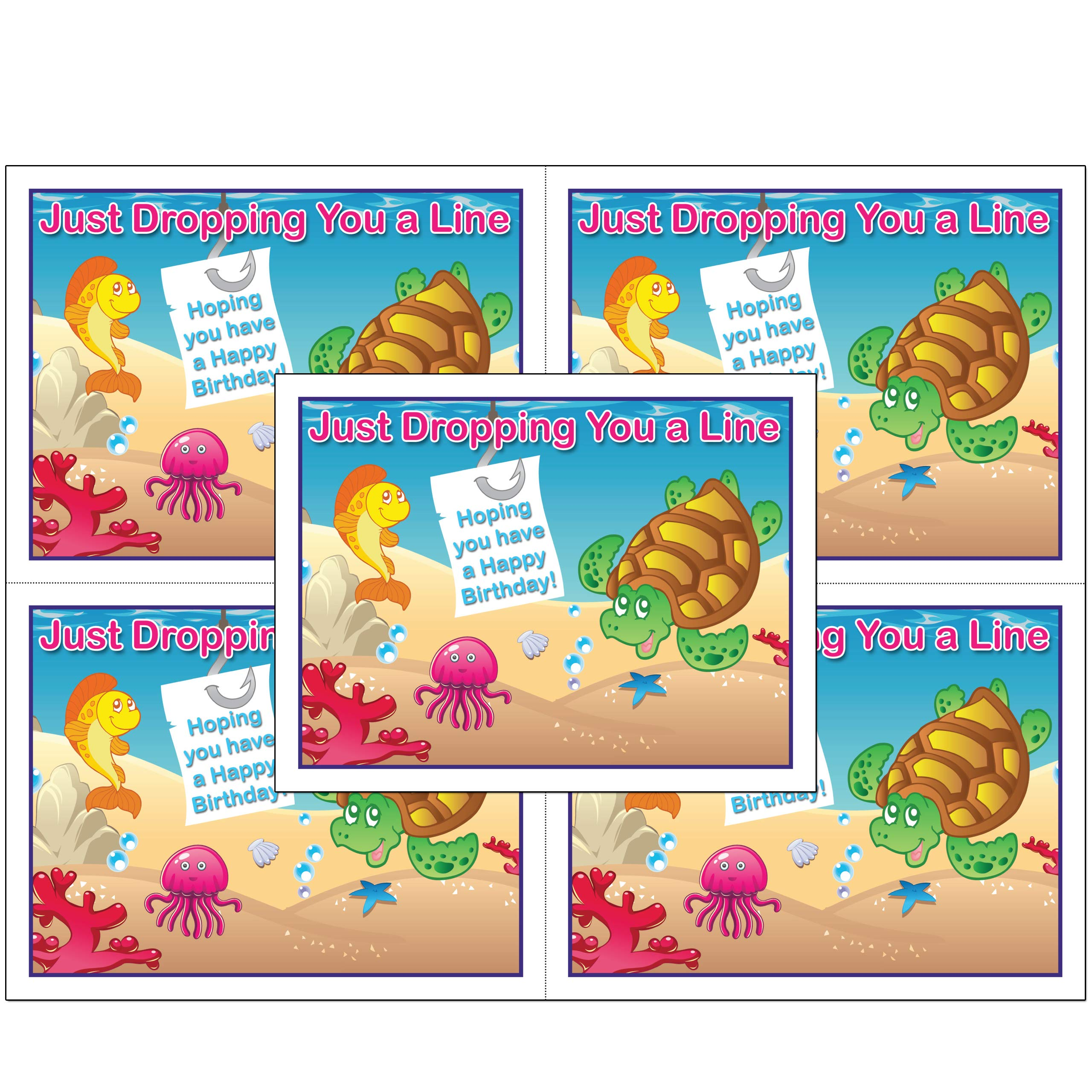 Dental Laser Birthday Postcards with Personalizable Backs. 4 Cards Micro Perforated for Tear-Off at 4.25'' x 5.5'' on an 8.5'' x 11'' Sheet of 8 Pt Card Stock. (5000) by Custom Recall