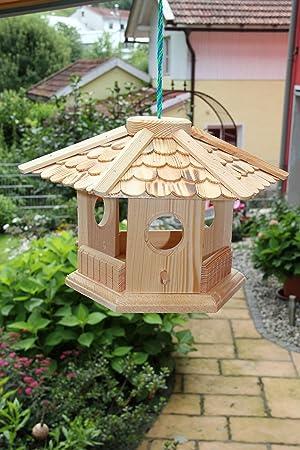 Casa de pájaros de 6 de esquina - Natural (V76) de pájaro Casas de pajarera Comedero de madera de carpintero de trabajo: Amazon.es: Productos para mascotas